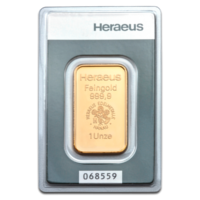 Gold Bars Heraeus 1 oz